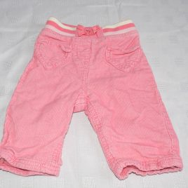 Blue Zoo pink cord trousers 3-6 months