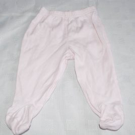 Pink trousers with feet 3-6 months