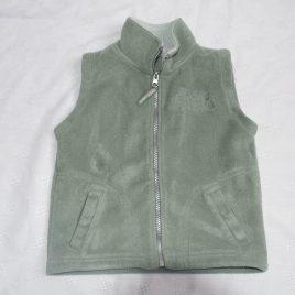 Grey/green fleece body warmer gilet 2 years