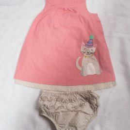 Boden cat pinafore dress & pants 12-18 months