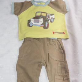 Truck t-shirt & trousers outfit 0-3 months