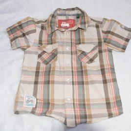Brown checked shirt 2-3 years