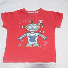 Red robot t-shirt 2-3 years