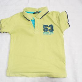 Lime green t-shirt 2-3 years