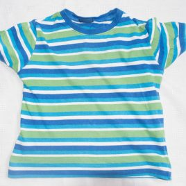 Blue & green stripy t-shirt 2-3 years