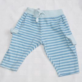 Blue stripy trousers 0-3 months