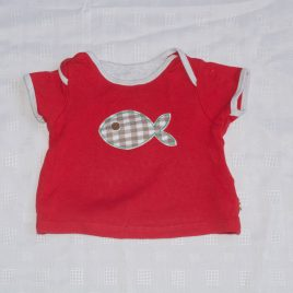 Red fish t-shirt 6-9 months