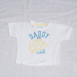 'Daddy is my super hero' t-shirt 6-9 months