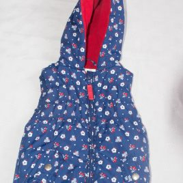 Navy flowers body warmer gilet 12-18 months