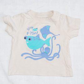 Stone 'Little fish' t-shirt 6-9 months