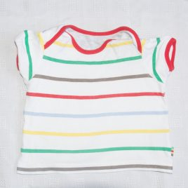 White stripy t-shirt 6-9 months