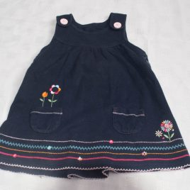 Navy pinafore dress 3-6 months