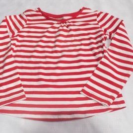 Next white & red stripy top 3-4 years