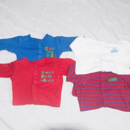 x4 sleepsuits 6-9 months