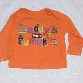 Halloween 'Daddy's little pumpkin'  top 6-9 months