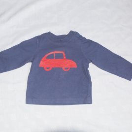 Navy red car top 6-9 months