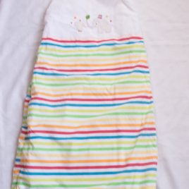 Mothercare rainbow stripy sleeping bag 1 tog 18-36 months