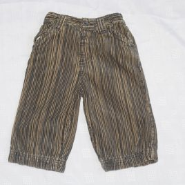 Brown stripy trousers 6-9 months