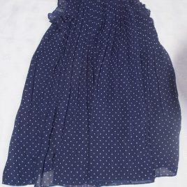 H&M navy spotty dress 3-4 years