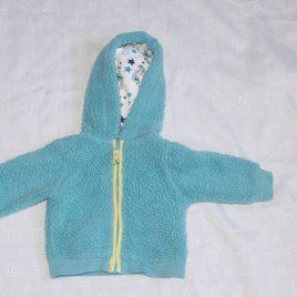 Aqua fleece hoodie 0-3 months