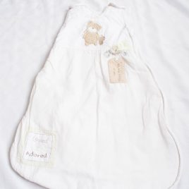 Cream sleeping bag 0-6 months 2.5 tog