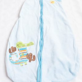 Blue crocodile sleeping bag 0-6 months aprox 1 tog