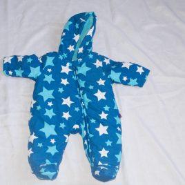 Blue stars snowsuit pramsuit 0-3 months