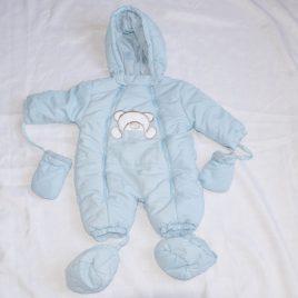 Blue snowsuit pramsuit 0-3 months