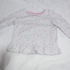 Grey cat top 12-18 months