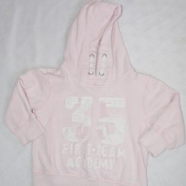 Next pink hooded jumper 12-18 months