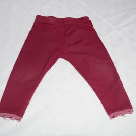 Burgundy red leggings 12-18 months