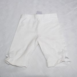 White 3/4 length leggings 18-24 months