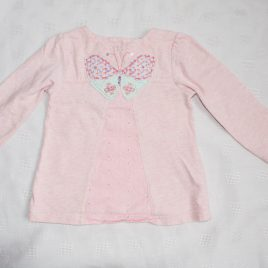 Pink butterfly top 12-18 months