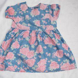 Blue roses dress 12-18 months