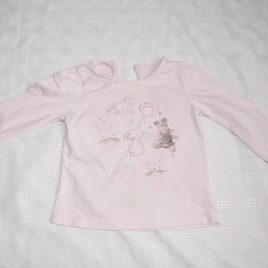 Pink bunny rabbit top 12-18 months