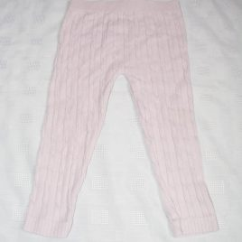 Dusky pink ribbed leggings 12-18 months