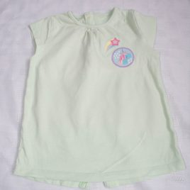 Mint green unicorn t-shirt 12-18 months