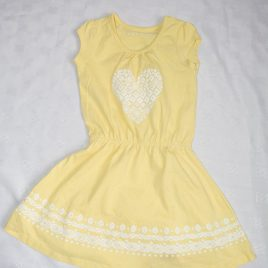Yellow heart dress 12-18 months