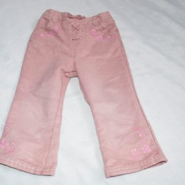 Next dusky pink soft feel trousers 12-18 months