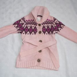 H&M knitted pink dress 12-18 months