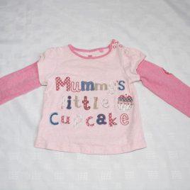 Pink 'mummy's little cupcake' top 12-18 months