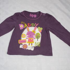 Purple 'My Daddy loves me ' top 12-18 months