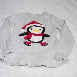 Christmas penguin jumper 12-18 months