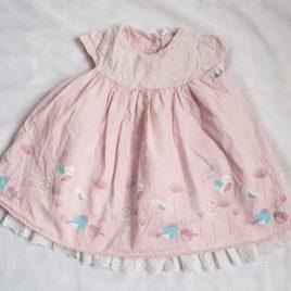 Pink bird dress 12-18 months