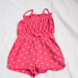 Pink hearts playsuit 12-18 months