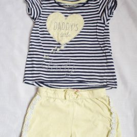 'Daddy's little lady t-shirt & shorts outfit 12-18 months