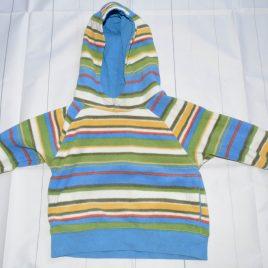 Next stripy hoodie 12-18 months