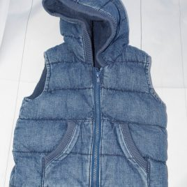 Denim style body warmer gilet 12-18 months