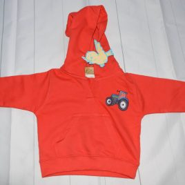 New red tractor hoodie 12-18 months