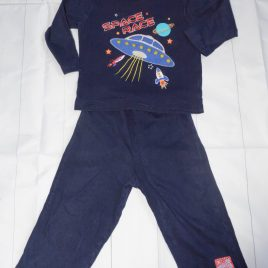 Navy space pyjamas 12-18 months